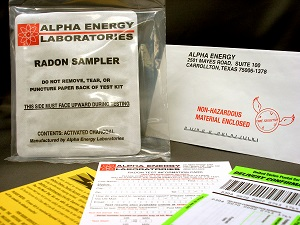 Radon testing in Essex home