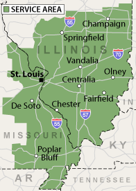 Our Illinois & Missouri Service Area